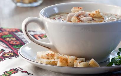 Суп-пюре з баклажанів з куркою