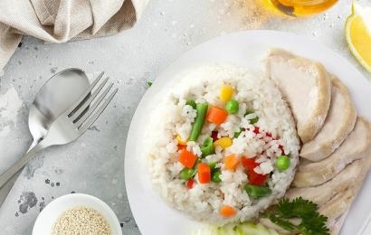 Грудка су-від з рисом та овочами